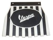 """vespa Mudflap Black & white Striped 9""""x 7.5"""""""