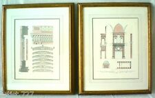 2 Architectural Drawings, Schinkel/German & Dolcebuono, Italian
