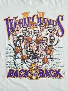 Vintage LA Lakers Caricature World Champs 80's T Shirt Vintage Men Gift Tee