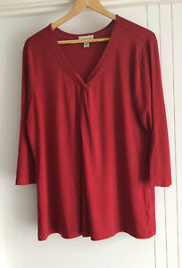 WOMENS AUTOGRAPH BRICK RED TOP SIZE 14