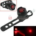 Luce Fanale Faro Fanalino Posteriore per Bici LED Rosso Impermeabile 3 Modi