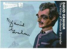 Thunderbirds 50 Years Auto Card DG5 David Graham Voice of Prof. Borender