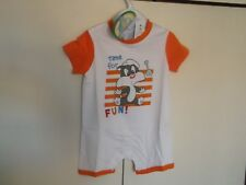 NEW Baby Boys Looney Tunes Casual Wear estate pagliaccetto 1 mesi