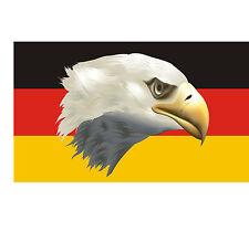 8,4x5,4cm PREMIUM Aufkleber Fahne von Deutschland Adler Sticker Autoaufkleber