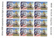 """RARE AIR LABELS NP """"Airbus A380 MSN 007 - 1st Landing Chicago O'Hare"""" 2007"""