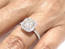 2.20CT CUSHION CUT DIAMOND ENGAGEMENT RING C11 ANTIQUE STYLE G SI1 CERTIFIED