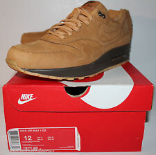 Nike Air Max 1 QS Flax Wheat Brown 2014 Sneakers Men's Size 12 New