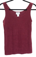 Womens Chico's Travelers Maroon Wine Red Tank Top Size 0 Stretchy Pullover Shirt