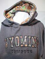 """Cowboys Hoodie Sweatshirt Wyoming Univ 42"""" Chest Lg USA NCAA New"""