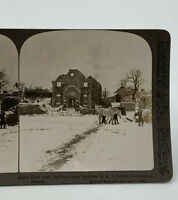 Underwood Stereoscope Stereoview Card First Town Captured From Germans WWI 2034X