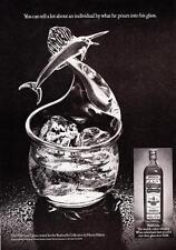 1975 Sailfish 'Fisherman' Glass photo Old Bushmills Irish Whiskey print ad
