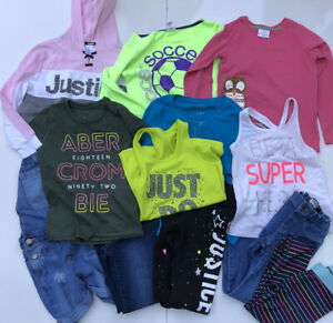Lot Girl's Clothes Size 8 9 10 Abercrombie Justice Hanna Andersson Nike