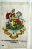B.D.V. Cigarettes Silk - THE NORTHUMBERLAND FUSILIERS 5th FOOT SILK BADGE