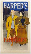 HARPER'S MAGAZINE - February original 1896 poster by Edward Penfield