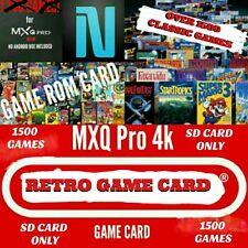 MXQ Pro 4K Retro Game Card - N3S, SN3S, SAGA Game card w/1,500 Games