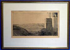 Radierung, Adolf Schinnerer, 1902, Italienische Landschaft in der Toskana