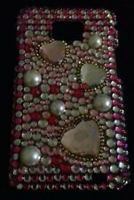 Galaxy s2/i9100 hard cover pink with glass/pearl-like bead. Price reduction now.