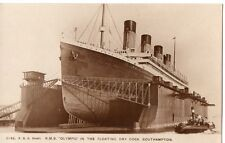 R.M.S.Olympic,in the Floating Dry Dock,Southampton Photograph by F.G.O.Stuart