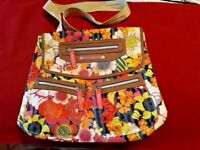 Colorful Large Floral  BackPack/Book Bag  LILY BLOOM Mint Condition