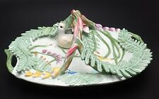 Fitz And Floyd Floral Swan Basket-New In Box