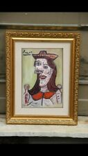 FINE ART PAINTING IMPRESSIONIST ON PAPER , RARE COLLECTION PICASSO ERA