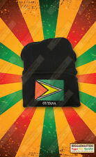 Guyana Bandera Insignia Gorro De Punto Sombrero Roots Reggae Rasta