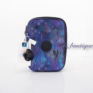 NWT Kipling KI0901 Frozen 100 Pens Case Accessory Box Nylon Mystical Adventure