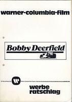 Bobby Deerfield - Werberatschlag + Presseartikel