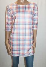 VALLEYGIRL Brand Cream Check Short Sleeve Shift Dress Size L BNWT #SR58
