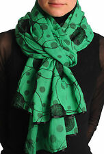 Beige With Black Skull and Raven Wings Unisex Scarf and Beach Sarong SF000708