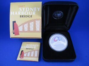 2007 1oz Silver Proof coin. Sydney Harbour Bridge 75th Anniversary Celebrations