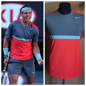 Nike Rafael Nadal Australian Open 2014 Tennis Shirt T-shirt Size M