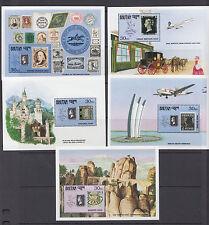 Bhutan Sc 906-917 MNH. 1990 Stamp World London, cplt set of 12 souv sheets, VF