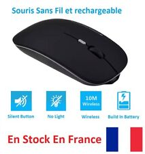 Wireless Ultra-mince 2.4GHz Sans Fil Souris 4D Rechargeable Optique De Jeu Hot