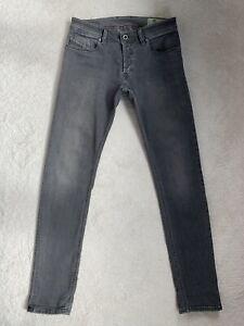 Men's Diesel Sleenker Slim Skinny Stretch Grey Jeans W28 L30 (D112)