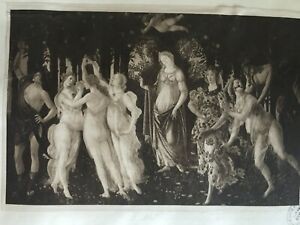 ANTIQUE PRINT 1901 SPRING BY BOTTICELLI FAMOUS PAINTINGS MYSTICAL MAIDENS ART