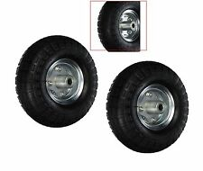 "2pc NEW Tire Flat 10"" AIR Tires Wheels 5/8""  Wheelbarrow Carts Wagon Hand Truck"