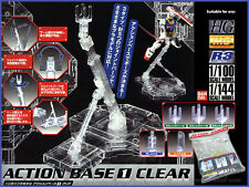Bandai 1/100 144 MG HG RG Clear Action Display base 1 Gundam x w uc 00  z zz ibo