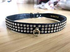 """Nuevo collar de perro de cristal Swarovski Mirage Negro 20"""" -22"""" grandes"""