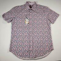 Robert Graham Men's RUSSELLVILLE Classic Fit Short Sleeve Shirt [Size M] $198