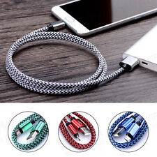 Universal W Shape Braided USB 2.0 A to Micro USB B Data Sync Charger Cable Lot
