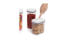 Good Grips 10 Piece Food Storage Pop Container Set OXO Airtight Lock Lid  Clear