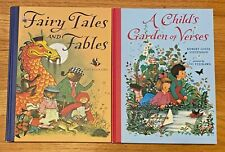Lot 2 GYO FUJIKAWA Books Fairy Tales and Fables Child's Garden of Verses