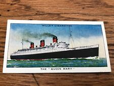 wills cigarette card - the queen mary !