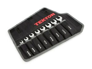 Tekton WRN01086 8 Pc SAE Stubby Combination Wrench Set w/ Pouch, 5/16 - 3/4 Inch