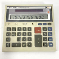 Vtg SHARP Compet CS-2125 D12 Solar Cell Calculator Desktop Made Japan Works