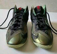 Nike Lebron XI 11 GS King's Pride 621712 700 Youth Size 6 Green parachute
