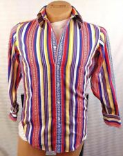 VINTAGE RALPH LAUREN Mens SOUTHWESTERN INDIAN TRIBAL Cool Cotton Flannel 14.5 32