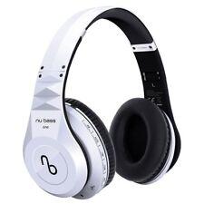 Nu Bass ONE - Wireless Bluetooth Over-ear Headphones - Micro SD, MP3 Mode, White
