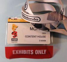 Official 2006 Nintendo E3 Expo Exhibitor Badge Pass Lanyard Los Angeles RARE